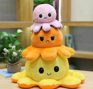 Reversible Doll Octopus Girl Funny For Toys Cute Two-sided Boy Stuffed Gift Toy Birthday Plush Kids Soft Octopus jllfE book2005