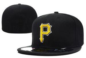 Tek Parça Tüm Takım Fanın Korsanları Altın P Gömme Beyzbol Takas Şapka Sahada Mix Sipariş Boyutu Kapalı Düz Bill Baz Topu Snapback Kapaklar Kemik Chapeau