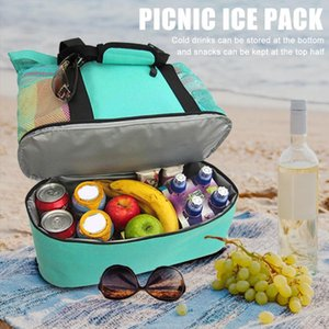 Big Capacity Outdoor Portable Picnic Bag Multi-functional Heat-retaining Beach Mesh Bags Handbag Storage Bag Home Organization