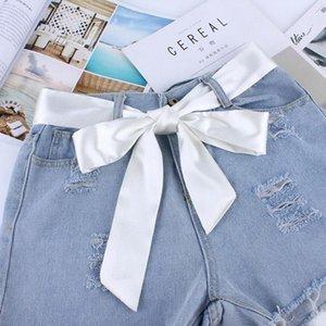 Safenh Fashion Wide Way Tessuto Cinture da donna Sciarpa da donna Sciarpa Silk Solid Nastro Knot Corda per abiti Ceinture Femme