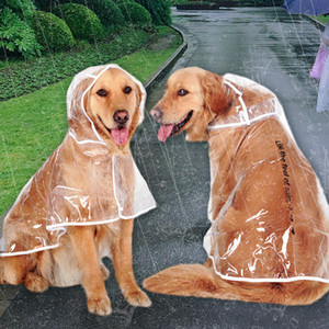 Brand Dog plastic Raincoat Transparent Giant dog Rain Coat Waterproof Puppy Raincoats Rainwear Summer Pet Clothes Dog Supplies