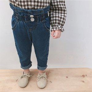 Milancel Skinny Baby Baby Filles Denim Pantalon Casual Garçons Jeans solides pour enfants C1123