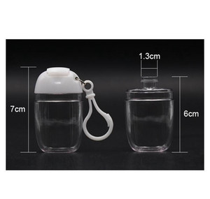 30ml Hand Sanitizer Bottle With Key Ring Hook Clear Transparent Plastic Refillable Containers Travel Bottle Patry bbyQjP soif
