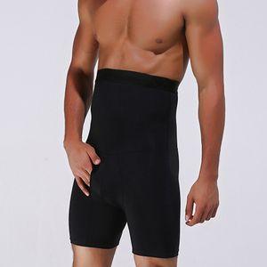 Hot Selling Men Ultra Lift Slimming Body Shaper Tummy Boxer High Waist Brief Panties Q1202