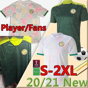 2020 2021 세네갈 축구 유니폼 플레이어 버전 Mane Koulibaly Gueye Kouyate Sarr Homme 남성 Maillot 드 발 축구 유니폼