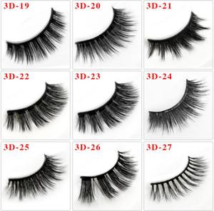 100% 3D Mink Makeup Thick Cross False Eyelashes Eye Lashes Extension Handmade nature eyelashes 36 styles Round Box Packaging DHL