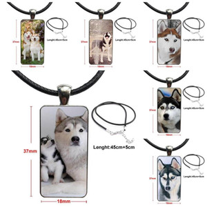 Aladdin Siberian Husky Dog For Girls Wholesale Brand Steel Color Jewelry Fashion Statement Necklace Glass Necklaces Pendants