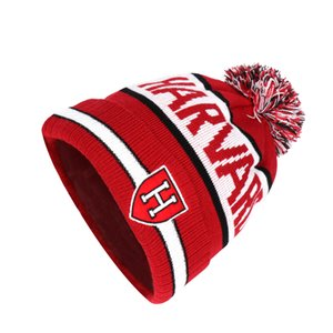 High Quality Mens Ski Cap Women's Pom Winter Beanie Hat Acrylic Knit Beanie Hat With Ball On Top Sport Team Cap