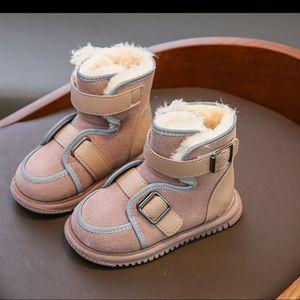 2020 детские снежные ботинки и хлопчатобумажные хлопчатобумажные туфли для мальчиков и девочек