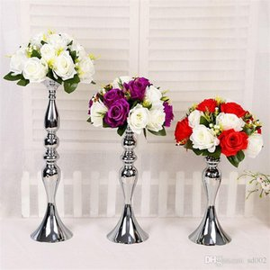 Mermaid Wedding Vases Metal Silvery Color 32 To 50cm Length Exquisite Flower Candle Holders Home Furnishing Decoration 23 5db3