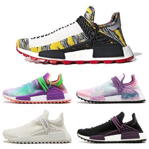 새로운 Pharrell Williams x Originals Hu Trial Solar Pack Pow3R 인류 남성 여성 운동 신발 정통 운동화 36-45