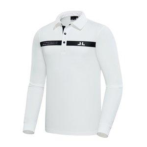 T-shirt da golf a maniche lunghe da uomo in primavera e autunno 2 colori JL Golf Vestiti da esterno Sport all'aperto Camicia per il tempo libero Trasporto libero