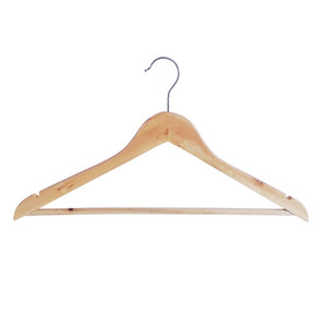 Natural Wooden Clothes Hanger Coat Hangers For Dry And Wet Dual Cloth Purpose Rack Non Slip Wood Hangers Storage Holders Supplies DBC BH4456