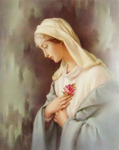 Katholisches Bild Gesegnete Jungfrau Maria mystische Rose Rose Mystica Wohnkultur Ölgemälde auf Leinwand Wandkunst Leinwandbilder 201123