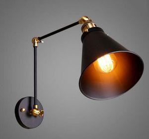 Loft Iron Wall Lamp Retro Vintage Lighting Indoor Wall Lamp American industrial Lighting lifting pulley light