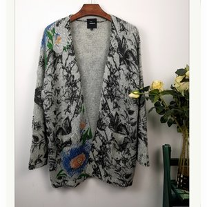 International fashion brand, Spain D's new printing knitted sweater cardigan in autumn and winter 2020