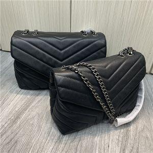 Bolso de diseño de lujo Loulou en forma de año de cuero acolchado Bolsa de mujer Bolsa de hombro de alta calidad Bolsa de altura Bolsa negra Capacidad grande