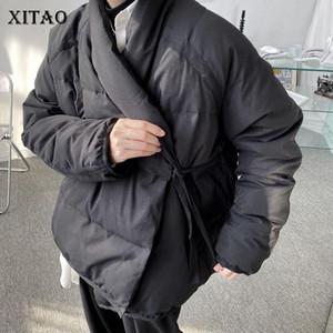 XITAO Black Down Coat Fashion New Full Sleeve Drawstring Elegant Minority 2020 Winter Goddess Fan Casual Loose Down Coat ZY2486