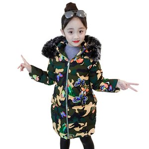 Coat For Girl Camouflage Print Girl Coat Outerwear Fur Hoodies Children's Jacket Toddler Children's Clothes For Girls 201118