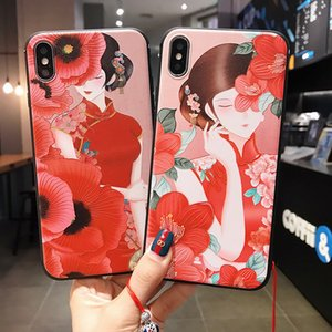 Estilo chino Crane Pattern Apple 12pro Funda de teléfono móvil para iPhone11 Soft Shell Tapa protectora todo incluido Envío gratis