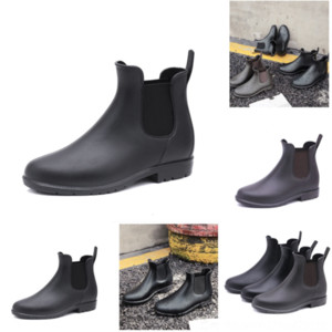 PY31I Women AnkleRemovable Adult boot Australia Brushed Rois Boots Real Slip Leather Nylon Lady hooded Rain Boots Pouch with Black Outdoor