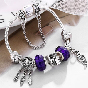 Fashion Charm Bracelet with Hat Pendant & Animal Charm Bracelet For Kid Pink Murano Glass Beads Friendship Brand