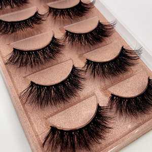 2020 1box Eylashes Mink False Lashes 5pairs Lashes Mink Eyelashes Natrual Makeup 3D Maquiagem