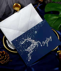 Korean creative Christmas CARDS top brass business Thanksgiving greeting card custom Christmas gift message card gift card