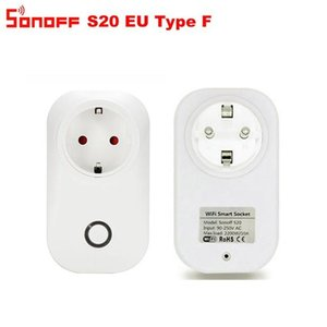النظم الأتمتة المنزلية الذكية ITEAD SONOFF S20 EU الإصدار WiFi Smart Home Wireless Socket App التحكم عن بعد عبر Ewelink Work مع Alexa