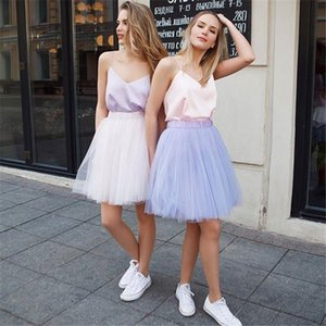 2021 Hoopless Short Tutu Party Skirt Wedding Petticoat Crinoline Rockabilly Tulle Underskirt Woman Half Slips Bridal Accessories CPA322
