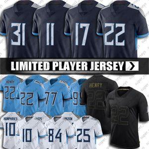 Tennesseer Derrick Henry Ryan Tannehill Jersey AJ Brown Taylor Lewan Jerseys Adoree Jackson Kevin Byard Jersey Jonnu Smith Football Jersey