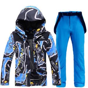 الرجال بدلة تزلج سترات التزلج + السراويل الرجال الشتاء تنفس الرياضة الدافئة للماء أندبروف التزلج و snowboarding الدعاوى مجموعة