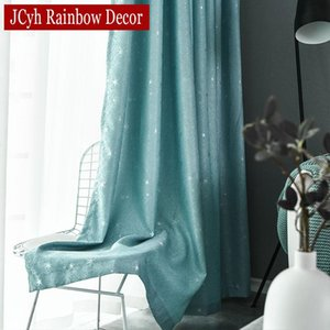Shiny Stars Curtains For Living Room Window Children Curtains For Kids Bedroom Party Thick Drapes Blinds Shaiding 85%