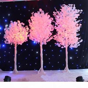 1,0 m 1,2 m 1,5 m de altura boda del árbol imitación blanco, hoja blanca, centrales de la boda florero