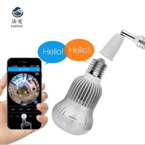 Panoramic 360 960P 1.3MP HD IP Mini Camera Smart LED Lights Cam Starlight IR Night Vision Bulb Home Security Camera