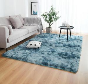 Anti-slip Floor Mats Grey Carpet Tie Dyeing Plush Soft Carpets Bedroom Water Absorption Carpet Rugs For Living wmtdsL dh_garden
