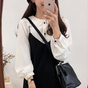 Vintage solid cotton white Shirt female Oversize Tops Women Long sleeve Girls Blouse Plus Size Autumn Women Blouses femme Blusas