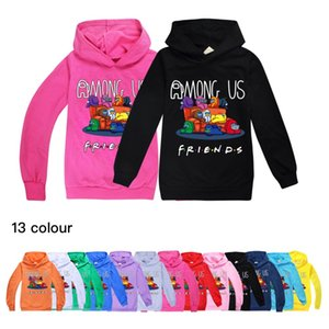 13-color children's hooded sweater kids fashion trendy long-sleeved hooded tops for boys and girls 753 Baby Kids Clothing
