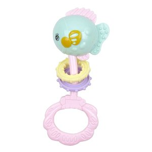 Lovely cartoon fish head shape with ring soft toys baby teether toy for 6 months+