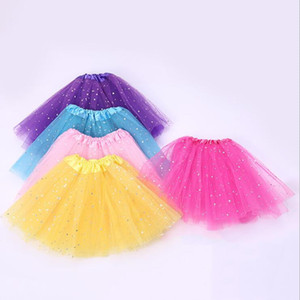 Girls Princess Dress Sparkle Glitter Tutu Dress Dress Bambini Paillettes Stelle Pizzi Dance Ballet Tulle Tutu Gonna Sparkle Pettiskirts GWB3738