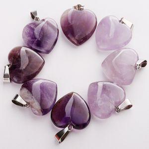 Wholesale 50pcs lot Fashion Natural Amethysts Stone Different Shape Beads Pendants DIY Jewelry Making for Women Free Shiping Q1121