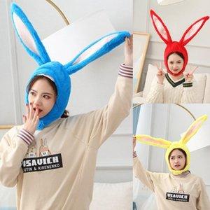 Women Men Funny Plush Ears Hood Hat Eastern Cosplay Costume Accessory Headwear Halloween Party Props