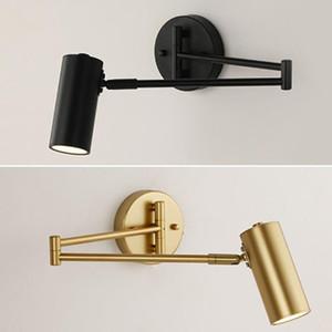 Lâmpada de parede LED Golden Wall Light Light Angle Ajustável / Comprimento Sconce Quarto / Banheiro / Espelho Lâmpada WY73001