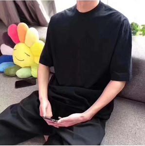 Мужские футболки Высококачественные футболки Досуг Футболты Печатная шейка с короткими рукавами Черно-белая Мода Высокое Качество T Рубашки BB