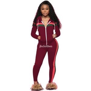 Cardigan à capuche femme 2pcs costume à manches longues striptées Womensuits femmes décontractées Panalassé Plus Taille Vêtements pour femmes01