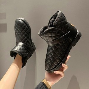 Ankle Boots for Women 2020 Winter Warm Snow Boots Thick Bottom Platform Booties Round Toe Combat for Women Botas 35-42