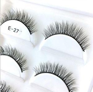 5 Pairs Natural 3D Mink Hair False Eye Lashes Soft Cross Long False Eyelashes Eye Makeup Beauty Extension