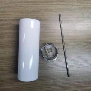 20oz Sublimartion Tumblers retos com fundos de borracha de aço de borracha de aço copo de aço inoxidável caneca de café Sublimação Bottle Garrafa de água A02