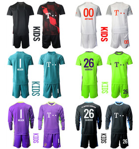 2021 Season Camisa de Futbol Custom Kids Kit Goalkeeper 26 ULREICH Football Jerseys 5 PAVARD 21 HERNANDEZ 9 LEWANDOWSKI Boys Uniform Sets