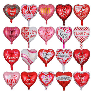 I Love You Balloons Heart Shaped Balloon 18 Inchs Aluminum Film Balloon Wedding Valentines Day Party Supplies 15 Designs YG1033